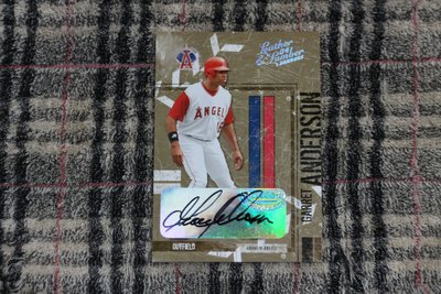 Garret Anderson 2004 Leather Lumber 天使隊三朝元老傳奇球星 限量50張亮面簽名卡