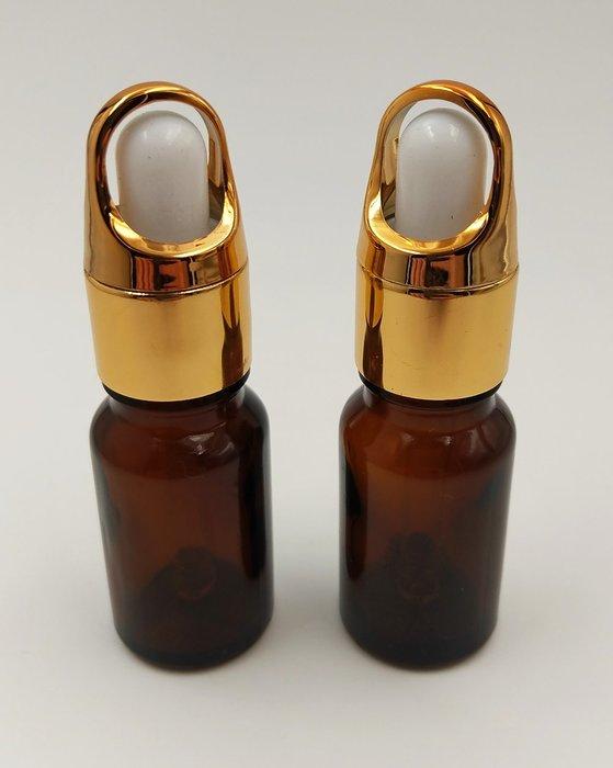 【三越Garden】茶色精油瓶10ml(金蓋滴管型)空瓶