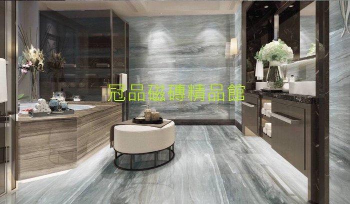 ◎冠品磁磚精品館◎進口精品 金鋼釉超平石英磚-金沙藍灰–80X80 CM