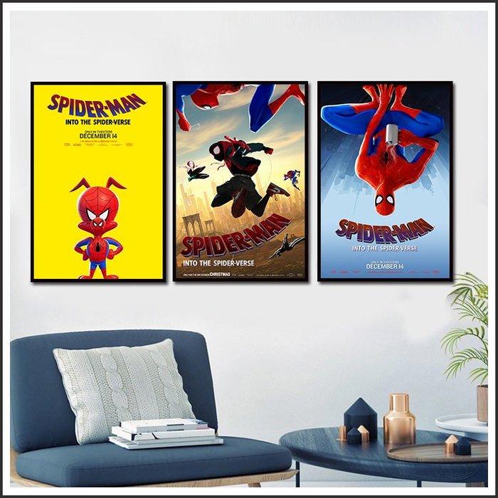日本製畫布 電影海報 蜘蛛人 新宇宙 Spider Man 掛畫 嵌框畫 @Movie PoP 賣場多款海報~