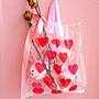 台灣現貨 日系 少女心 愛心 透明 手提袋 愛心禮袋 禮物袋