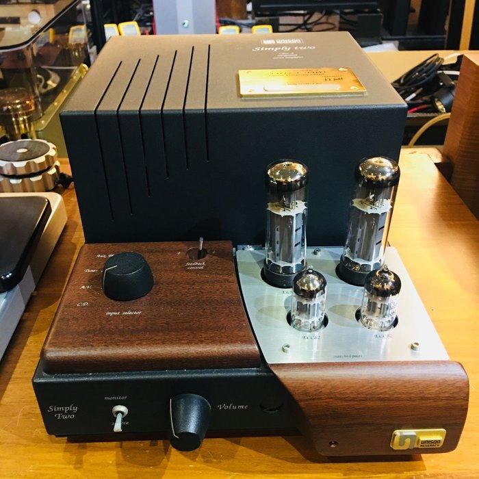稀有釋出 義式經典 Unison Research Simply Two 真空管綜合擴大機 全球限定版 6/1000 品相美 功能正常