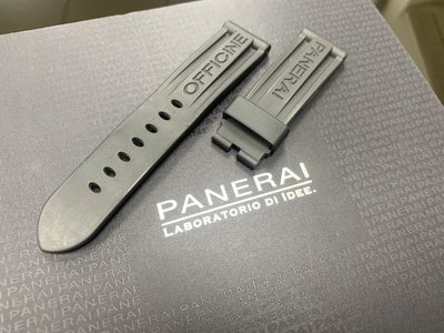 已售出【永大精品】Panerai 沛納海 原廠膠帶 正常版24mmX22mm 二手錶帶