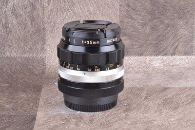 【品光攝影】NIKON Nikkor Non-Ai 35mm F2 定焦 手動鏡 GG#66546