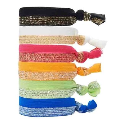 ㊣ 美國八卦小報 ㊣ 全新正品 L. Erickson 新款綁式緞帶彈性髮束 RIBBON PONY 一組五條