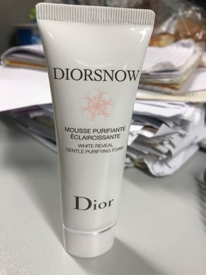 diorsnow white reveal gentle purifying foam 潔面泡沫 travel size