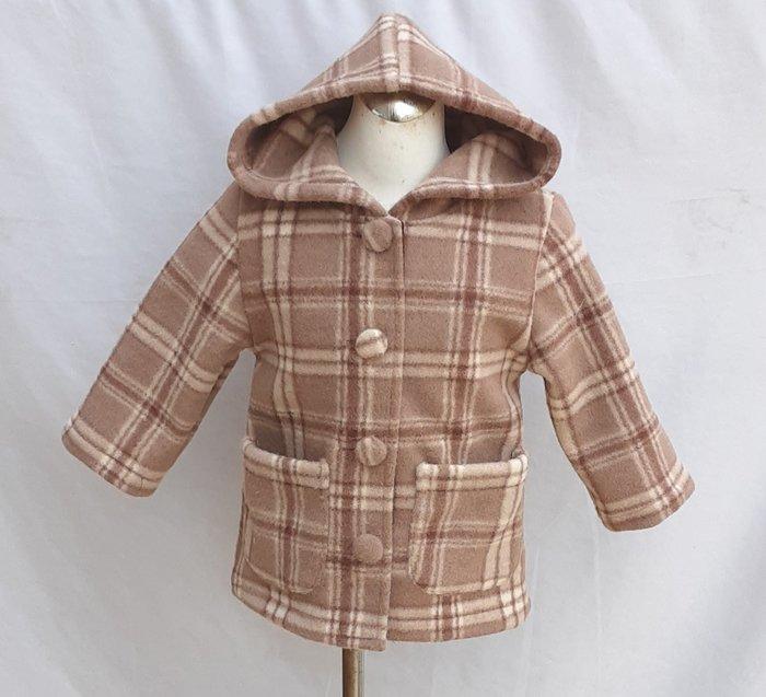 小雅兒童工作室~~手工製作~~~連帽長板大衣