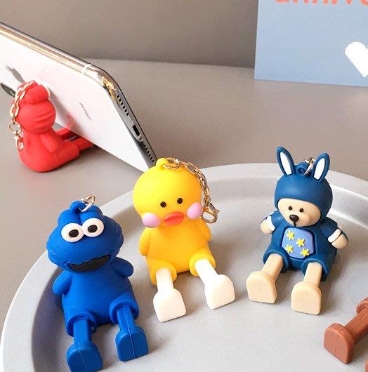公仔手機支架 抖音同款 可伸縮 日韓卡通手機鏈掛件 可愛女款蘋果支架 可愛立體卡通支架