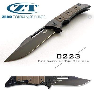 【angel 精品館 】美國 ZT 0223 新款折刀 20CV鋼DLC塗層 鈦+G10柄