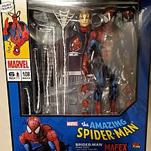 全新 日版 靚盒 Medicom Mafex 蜘蛛俠 漫畫版 Marvel Amazing Spider Man Comic Paint mafex 108