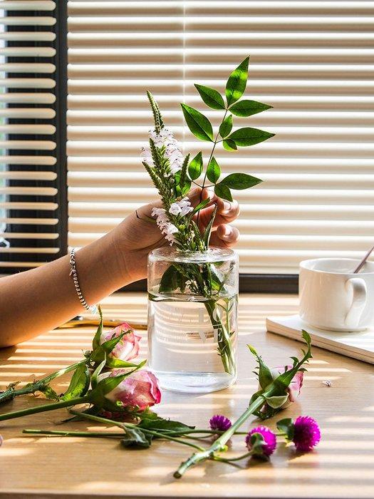 #創意 裝飾品 居家摩登主婦北歐風耐熱玻璃花瓶創意干花香薰瓶插花水培瓶裝飾擺件