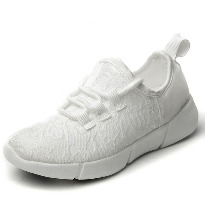 春季爆款夜跑男鞋LED燈發光鞋情侶USB充電光纖鞋