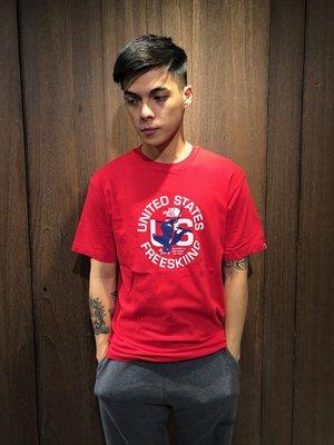 美國百分百【全新真品】 The North FaceT恤 TNF 短袖 T-shirt 北臉 logo 紅色 E841