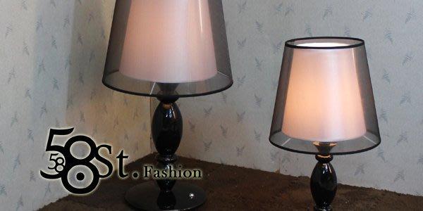 【58街】義大利設計師款式「雙層布罩觸控檯燈、台燈」美術燈,複刻版。GL-117