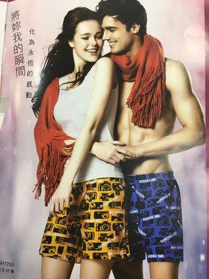 【AMY】華歌爾GH3515男性四角棉質花色內褲4L/450.特價3件1080