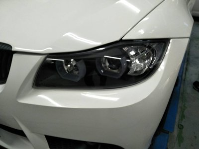 DJD19071522 BMW E90 E91 雙U型3D導光條 DRL 黑底魚眼大燈+LED方向燈組