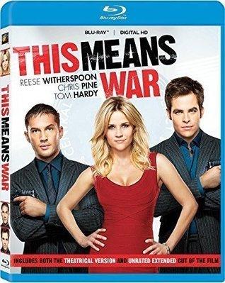 BD 全新美版【特務愛很大】【This Means War】Blu-ray 藍光 瑞茲薇絲朋