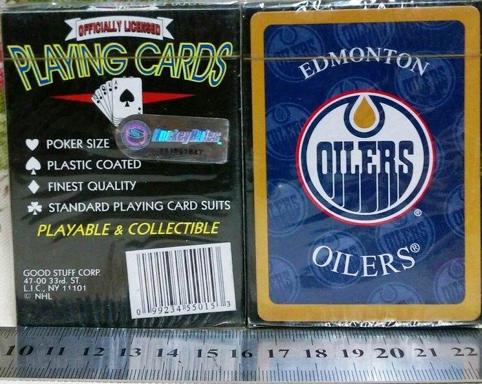 龍廬-出清撲克牌可收藏~冰球曲棍球隊Edmonton Oilers Playing Cards愛民頓油人隊/起標為單附