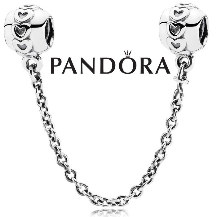 金永珍珠寶鐘錶*PANDORA 潘朵拉 原廠真品 經典愛心安全鍊 付本店保證書 保證真品 現貨*