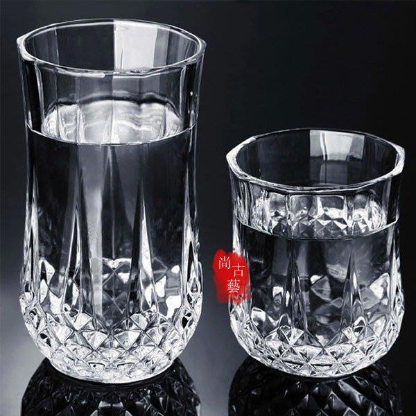 【尚古藝】玻璃杯 威士忌酒杯 洋酒啤酒杯 套裝茶杯 玻璃果汁飲料檸檬杯