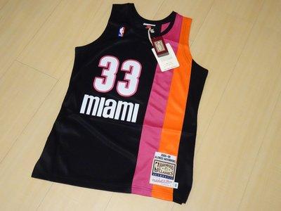 NBA Mitchell & Ness邁阿密熱火隊Miami Heat莫寧Alonzo Mourning球員版#33球衣