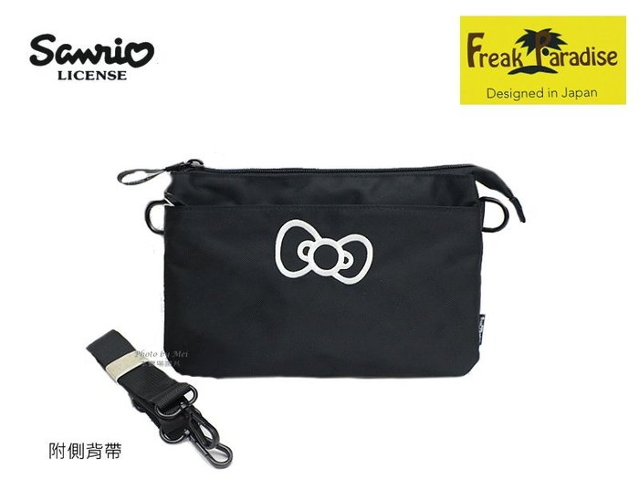 Hello Kitty 小型斜側背包  ( FPKTOE002BK 黑)