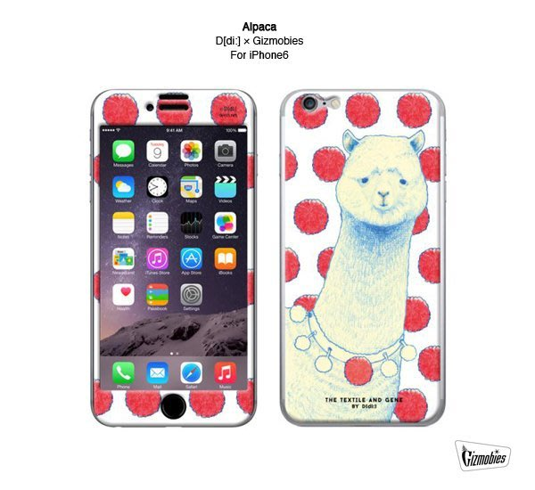 GOODFORIT / 日本Gizmobies Alpaca iPhone 6/6S日本塗鴉插畫家聯名草泥馬手機貼