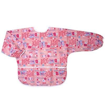 【魔法世界】台灣 Baby City 防水長袖畫畫衣(3-5A) 粉色兔子 BB32174P【保證公司貨】