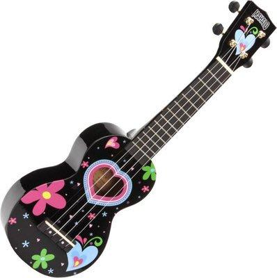 【六絃樂器】全新 Mahalo Heart Black 21吋烏克麗麗 / 現貨特價 另有教學