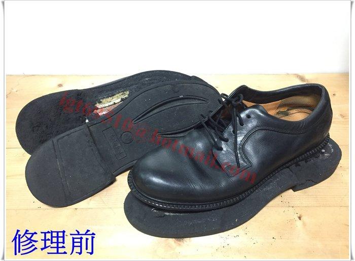 Timberland 全黑紳士工作鞋 氧化 脫膠 換底 (醫鞋中心)