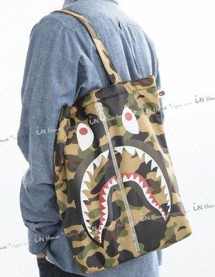 IN House* 日本雜誌附錄 A BATHING APE 迷彩 猿人 環保 購物袋 鯊魚 單肩包 托特包 書包