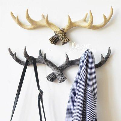 歐美式複古創意北歐麋鹿角掛鉤服裝店牆面...