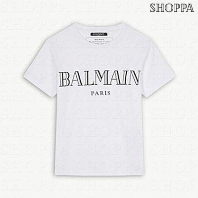 【SHOPPA】BALMAIN logo 棉質 短袖 上衣 T恤 白色