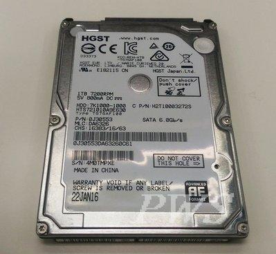 【日立 Hitachi Travelstar 7K1000 1TB 2.5吋 SATA硬碟 7200轉】展示機升級拆下 台北市