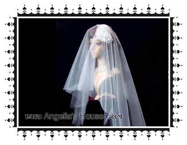 *Angelia*-【新娘飾品】E-01.一片式頭紗1(素紗基本款:150x180)六角網紗.抓紗用