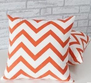 ~布藝天下~ 沙發靠枕套訂做 大號靠墊套 長方形定做抱枕套 不含芯40/45/50/60 橘紅 D70
