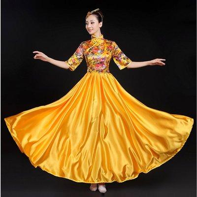 【職業裝】CK7596*合唱服長裙 開場舞大裙擺古箏舞蹈服裝現代舞演出服成人女