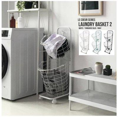 【TLC代購】現代生活簡約洗衣籃  滾輪車 方便移動 白/灰/綠三色 ❀預購商品❀