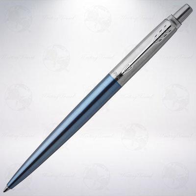 美國 派克 PARKER Jotter 不鏽鋼原子筆: 淺藍色/Waterloo Blue
