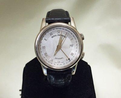順利當舖  Revue Thommen/梭曼 Cricket系列18K白金鬧鈴錶梭曼手上鍊機芯男仕表款限量150只