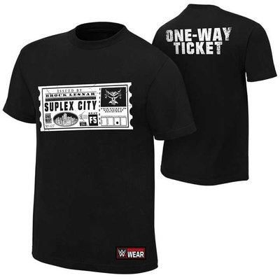 WWE摔角衣服 Brock Lesnar One Way Ticket 布洛克 一張單程票黑色短袖T恤 買三免運