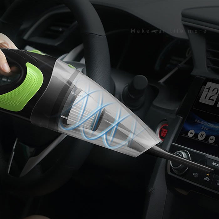 5Cgo【樂趣購】558619331442 多功能大吸力無線車載吸塵器大功率220V充電汽車內用家用小型強力幹濕迷你兩用