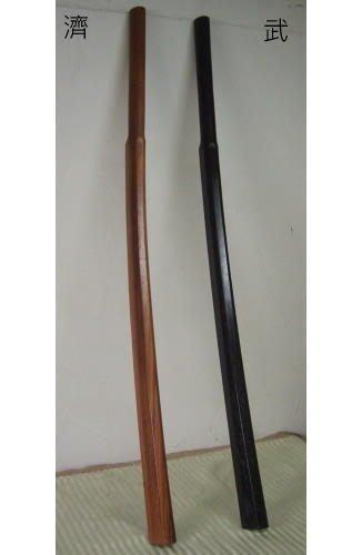 濟武:素振船槳型木刀(特選赤堅木-超重版1350~1500公克全長106cm握柄長26CM)