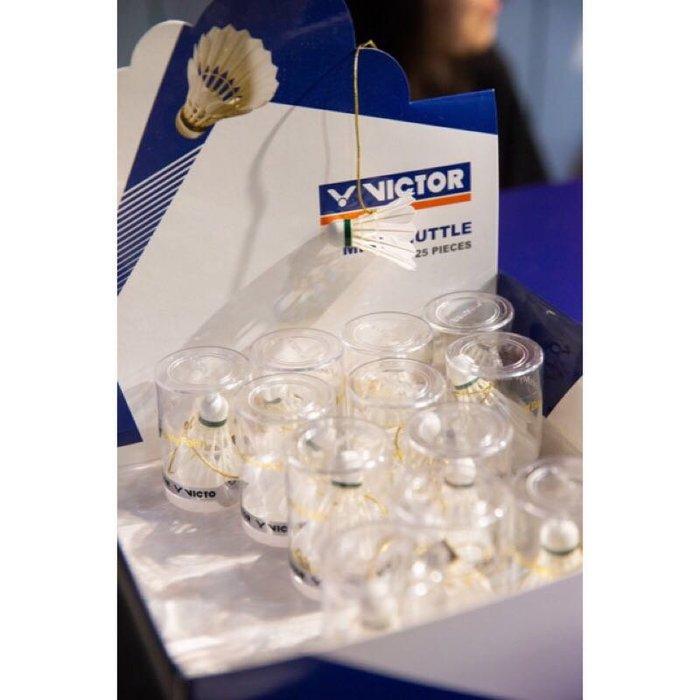 ◇ 羽球世家◇ 勝利 小羽球吊飾 白色 有精美專屬盒裝 真羽毛球 Victor 卡哇伊 羽球送禮 禮品