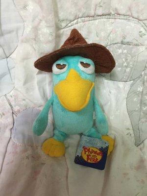 ◎就是愛耍cute◎布偶娃娃專賣店,全新迪士尼 泰瑞 Phineas and Ferb 飛哥與小佛 戴帽鴨嘴獸 玩偶。