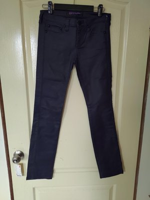 [99go] 日本 全新  Back Number black label 黑標 特殊棉質布料 黑色牛仔褲 27腰