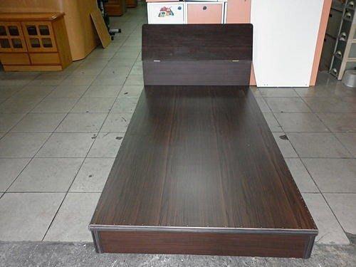 樂居二手家具*全新胡桃木單人床組含床頭櫃*單人床組 單人床箱 單人床頭櫃