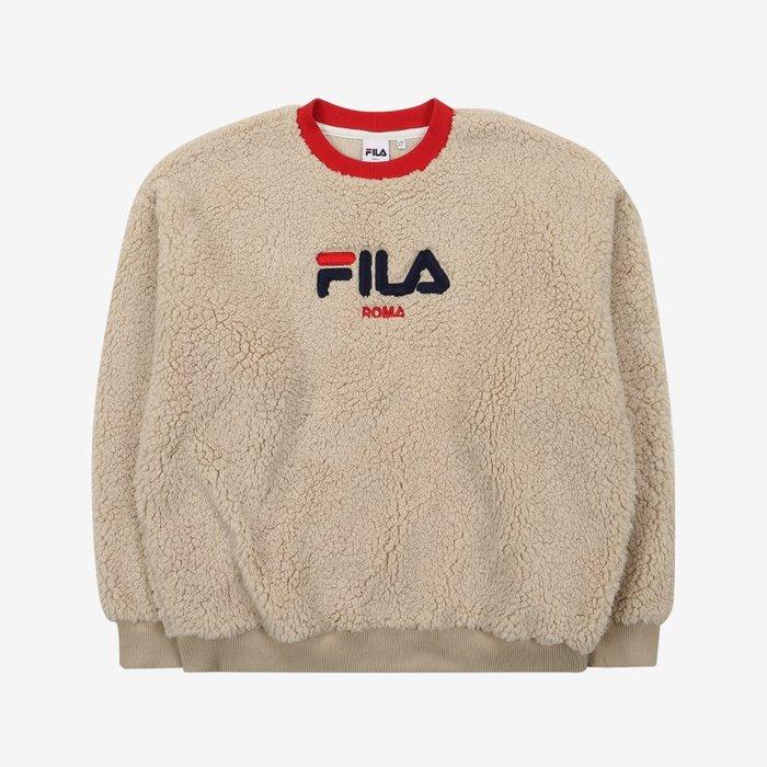【Luxury】FILA  暖冬 刷毛 毛球毛衣  黑黃 米白紅 厚刷毛  FS2POA4F01F_LBE ROMA C