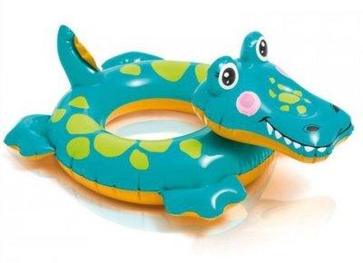 [衣林時尚]  INTEX 58221 動物造型游泳圈(鱷魚) 71cm x 56cm 建議3-6歲 保固一年
