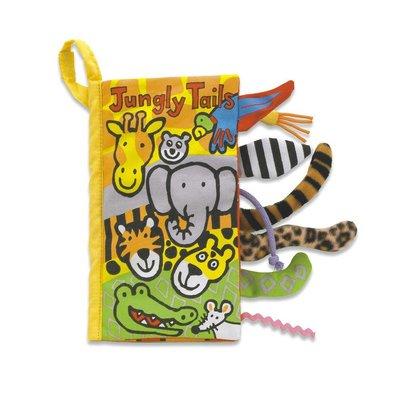 《代購英國Jellycat》嬰兒刺激感官布書 安撫書 彌月禮 *叢林動物尾巴書Jungly Tails Book*